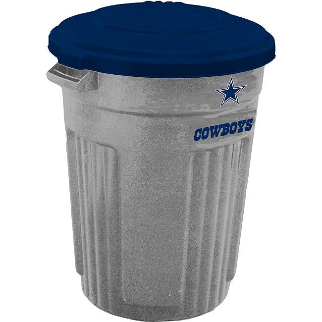Dallas Cowboys 32 Gallon Trash Can Overstock Shopping
