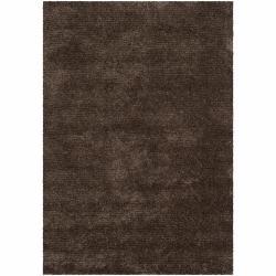 Handwoven Mandara Brown Shag Area Rug (9' x 13')