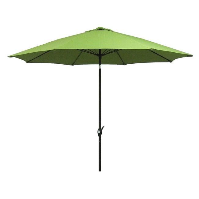 Fiberglass Lime Green Poly Crank and 9-foot Tilt Umbrella