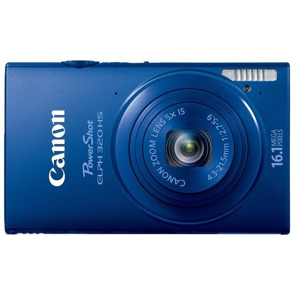 Canon PowerShot ELPH 320HS 16.1MP Blue Digital Camera