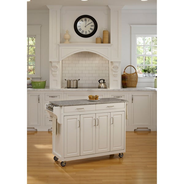 Create-a-Cart White Granite Top