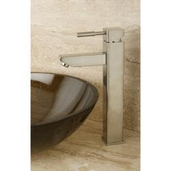 Satin Nickel Vessel Bathroom Faucet