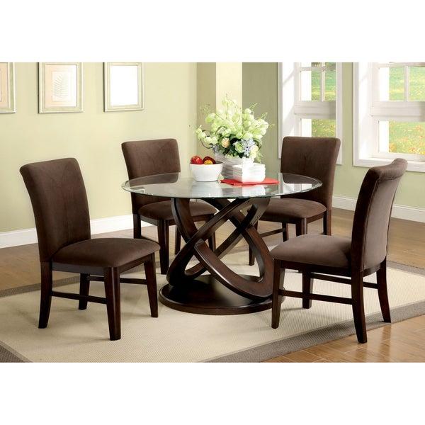 Furniture of America Keystone 5-piece Espresso Finish Dining Set