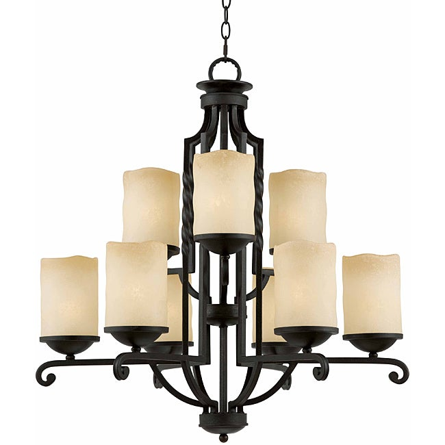 Granada 9-light Blacksmith Bronze Chandelier