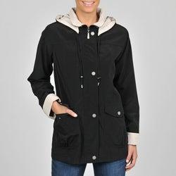 Nuage Women's Black Faux Silk Jacket