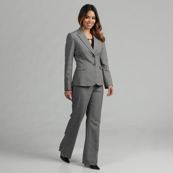 Tahari ASL Women's Plaid Pant Suit