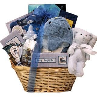 Congratulations Baby Boy Gift Basket