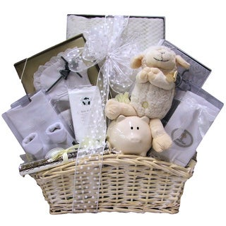 Beautiful Blessings on Your Christening Baby Girl Gift Basket