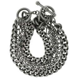 CGC Silverplated Six-chain Toggle Bracelet