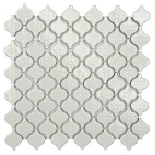 SomerTile Mini White Porcelain Mosaic Tile (Pack of 10)