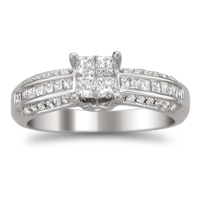 14k White Gold 7/8ct TDW Diamond Composite Engagement Ring (H-I, I2)