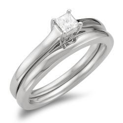 14k Gold 1/4ct TDW Diamond Solitaire Bridal Ring Set (I-J, I1-I2)