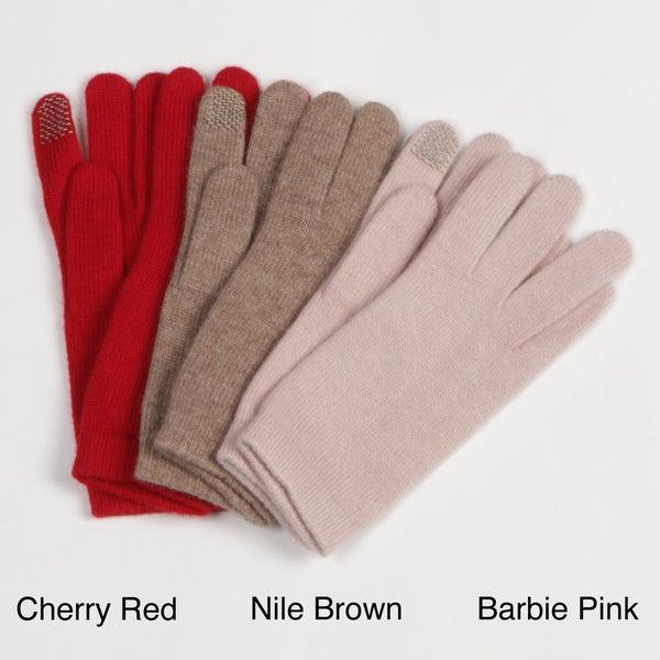 Portolano Women's Cashmere-blend Texting Gloves FINAL SALE