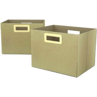 Flow Wall Decor Jumbo Collapsible Olive Storage Bins (Set of 2)