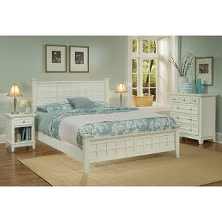 Arts Crafts White 3-piece Queen-size Bedroom Set