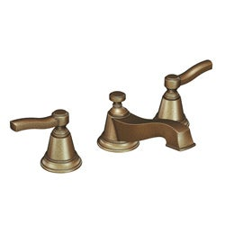 Moen TS6205AZ Rothbury Two-Handle Antique Bronze Low Arc Bathroom Faucet