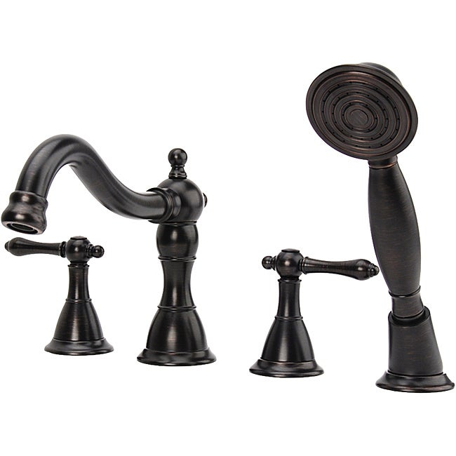Fontaine Faucets : Fontaine Montbeliard Oil Rubbed Bronze Roman Tub Faucet with Handheld ...