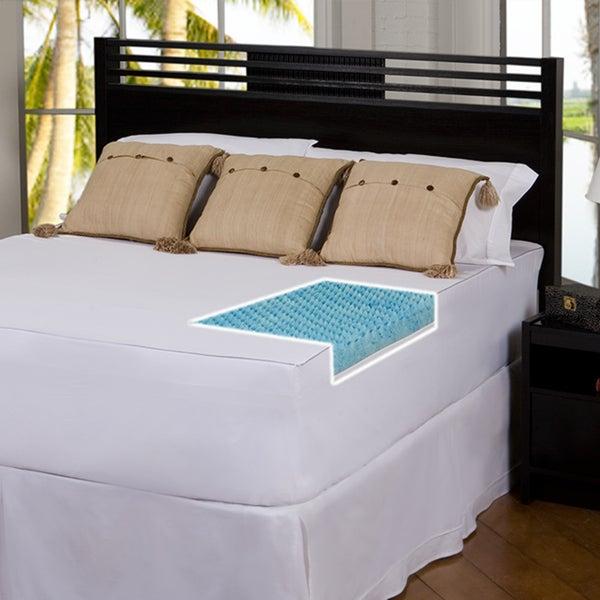 Slumber Solutions Gel Highloft 3-inch Memory Foam Mattress Topper with Cover
