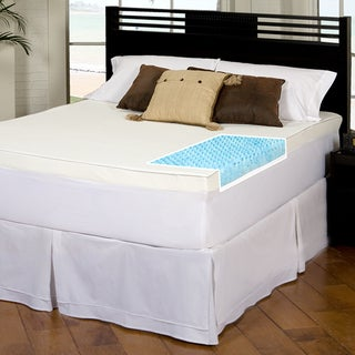 Slumber Solutions Gel Highloft 3-inch Memory Foam Mattress Topper with Waterproof Cover