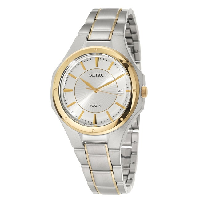 Seiko Men's Bracelet Stainless Steel/ Yellow Gold Plated Watch