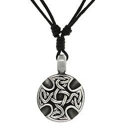 CGC Pewter Unisex Celtic Medallion Adjustable Cord Necklace