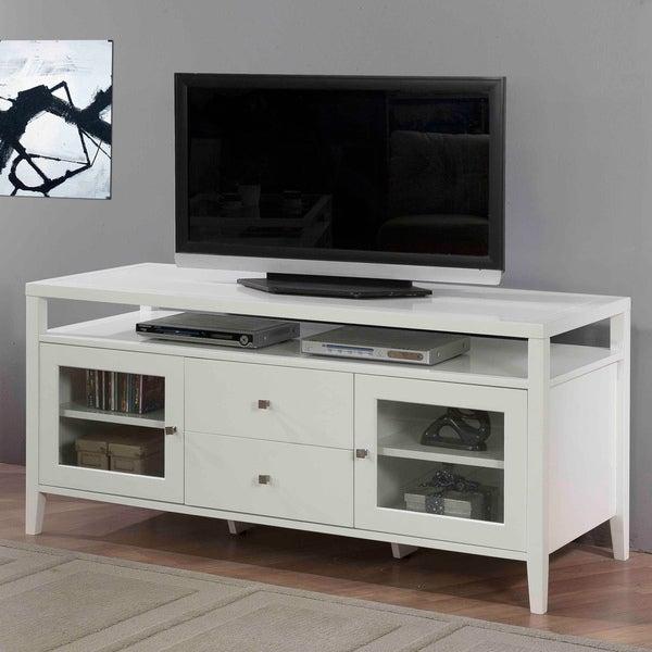 Aristo Gloss White 2-drawer Media Center