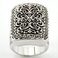 City by City City Style Silvertone Antiqued Filigree Ring