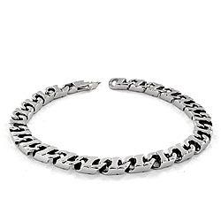 Stainless Steel Flat Mariner Link Bracelet