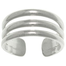CGC Sterling Silver 3-band Wide Toe Ring