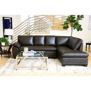 ABBYSON LIVING Devonshire Premium Top-grain Leather Sectional Sofa