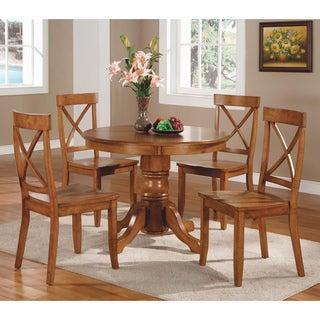 Cottage Oak 5-piece Dining Furniture Set