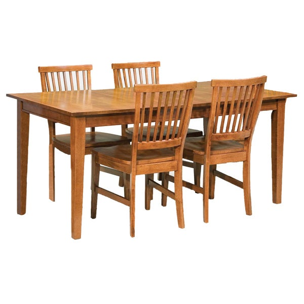 Arts and Crafts Cottage Oak 5-piece Dining Furniture Set