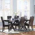 TRIBECCA HOME Dartford Espresso 7-piece Contoured Dining Set