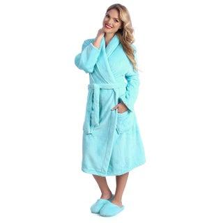Ultrasoft Plush Bath Robe and Slipper Set