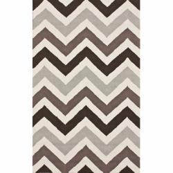 nuLOOM Handmade Chevron Wool Rug (7'6 x 9'6)