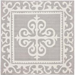 nuLOOM Handmade Royalty Grey Wool Rug (6' x 6')