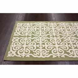 nuLOOM Handmade Marrakesh Fez Green Wool Rug (5' x 8')