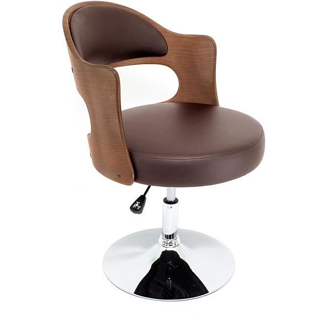 Walnut Wood Accent Leisure Chair
