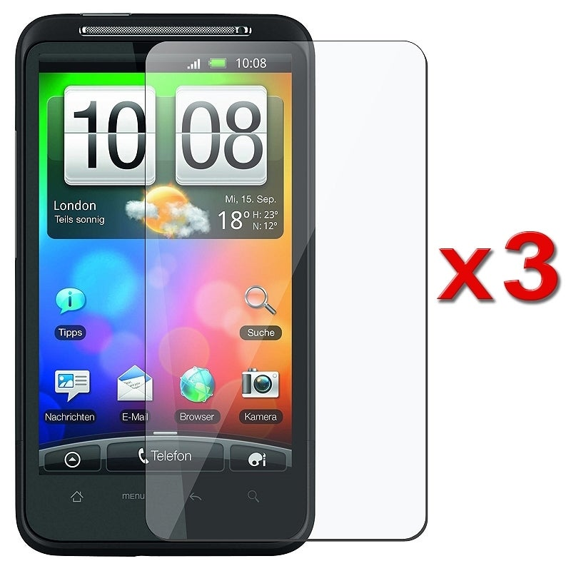INSTEN Clear Screen Protector for HTC Desire HD/ Ace (Pack of 3)