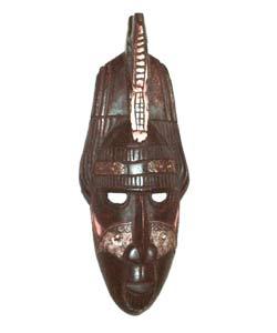 Handmade Sesse-wood Crocodile Mask (Ghana)