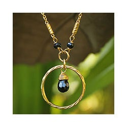 Gold Overlay 'Morning In Thailand' Spinel Necklace (Thailand)