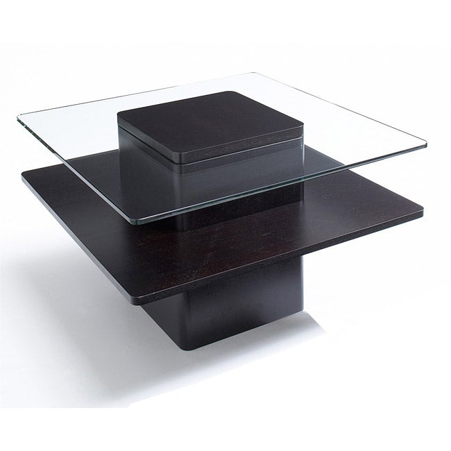 Jesper Office 30 Inch Glass And Wood End Table Overstock Shopping Great Deals On Jesper