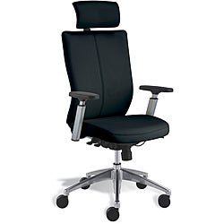 Jesper Office Black Leather Office Chair