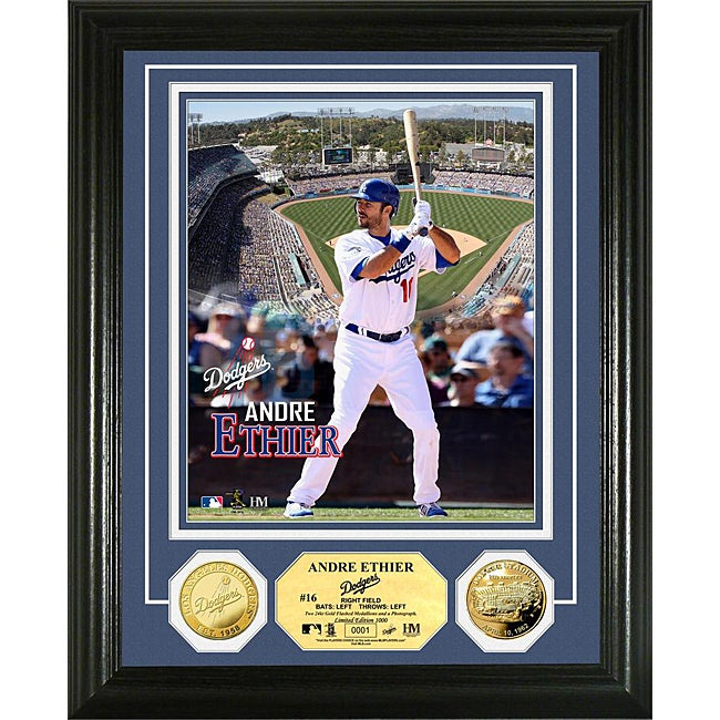 Los Angeles Dodgers Andre Ethier Gold Coin Photo Mint