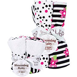 Trend Lab Bib and Burp Cloth Set in Zahara Zebra