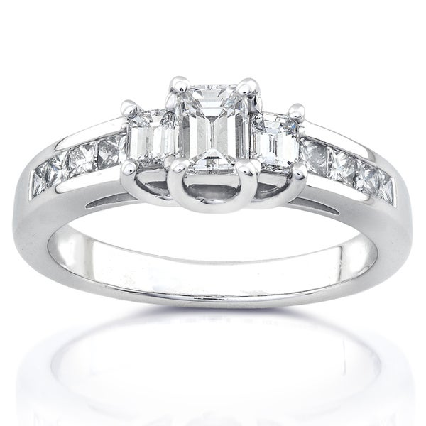 Annello 14k White Gold 1ct TDW Diamond Engagement Ring (H-I, SI1-SI2)