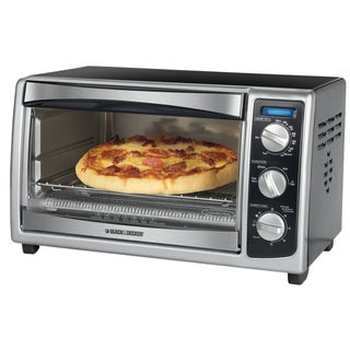 Black & Decker Stainless Steel Six-slice Toaster Oven