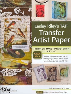 Lesley Riley's Tap, Transfer Artist Paper: 18 Iron-on Image Transfer Sheets 8.5 X 11 (Paperback)