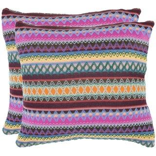 Safavieh Fantasia Brown 22-inch Decorative Pillows (Set of 2)