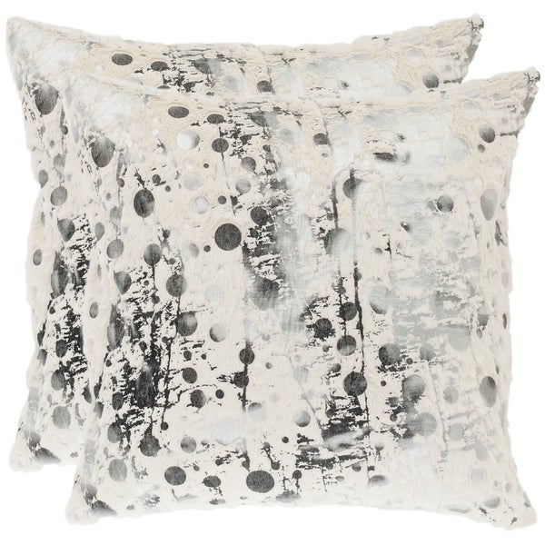 Safavieh Cosmos 22-inch White Decorative Pillows (Set of 2)
